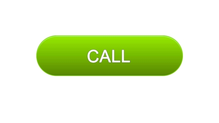 Call web interface button green color, consultant assistance, technical support, stock footage Фото со стока