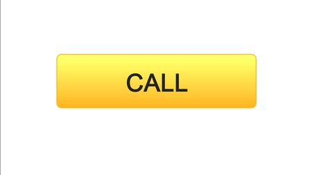 Call web interface button orange color, consultant assistance, technical support, stock footage