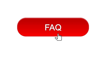 FAQ web interface button clicked with mouse cursor, red color, online support, stock footage Reklamní fotografie