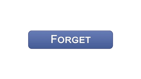 Forget web interface button violet color, internet site design, online app, stock footage 写真素材