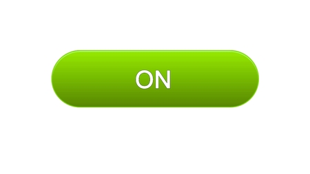 On web interface button green color, internet site design, online program, stock footage