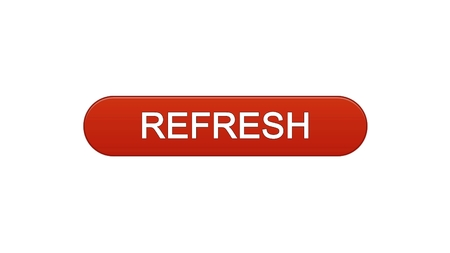 Refresh web interface button wine red, internet site design, innovation idea, stock footage