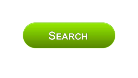 Search web interface button green color, internet monitoring, site design, stock footage Stock Photo