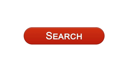 Search web interface button wine red color, internet monitoring, site design, stock footage Stock Photo
