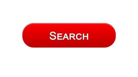 Search web interface button red color, internet monitoring service, site design, stock footage