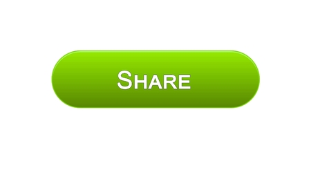 Share web interface button green color, social network, internet site design, stock footage Stock Photo