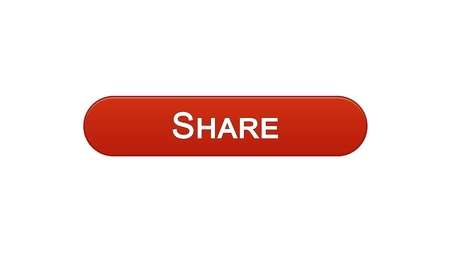 Share web interface button wine red, social network application, communication, stock footage