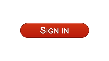 Sign in web interface button wine red color, online application, internet site, stock footage