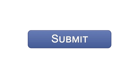 Submit web interface button violet color, electronic report, online declaration, stock footage