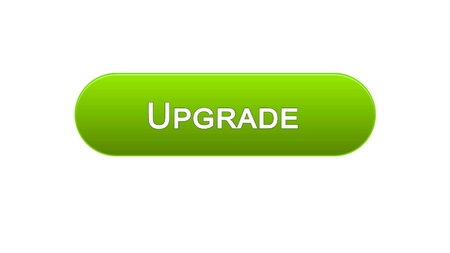 Upgrade web interface button green color, software installation, program update, stock footage