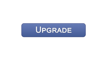 Upgrade web interface button violet color, software installation, program update, stock footage