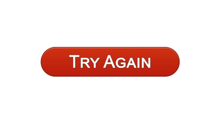 Try again web interface button wine red color, internet site design, support , stock footage Stock Photo