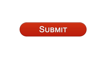 Submit web interface button wine red color, electronic report online declaration, stock footage