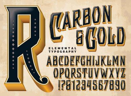 A lovely three dimensional vector typeface. All capitals and numerals and some punctuation are included.
