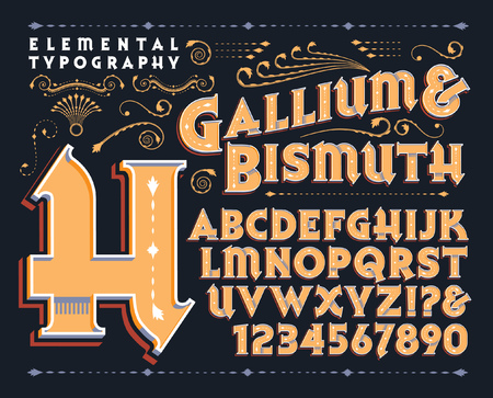An original vector typeface with a colorful 3d treatment. Çizim