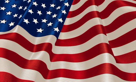 A U.S. Flag with a satin line effect