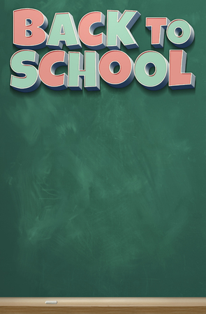 A vertical image of a chalkboard with the colorful words