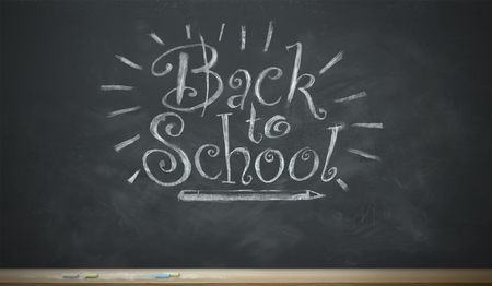 An image of a chalkboard with the words