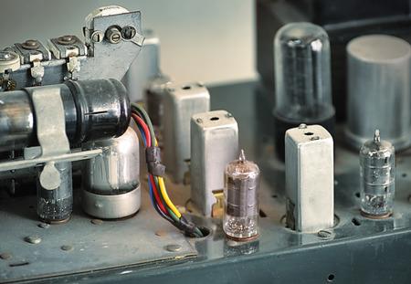 A vintage tube radio amplifier