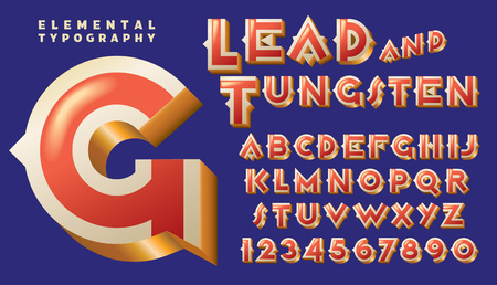 A custom typeface design similar to art deco 1920s designs with metallic gold effect