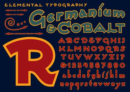 A custom typeface design similar to art deco 1920s designs Ilustração
