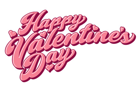 A bold script treatment of the message: Happy Valentine's Day.