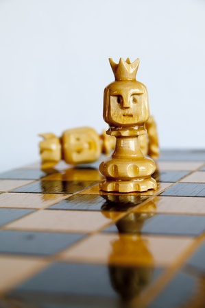 sexes: Battle of the sexes. Power play in the game of chess.