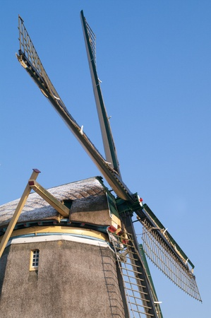 watermanagement: Closeup of the blades of a windmill in the winter