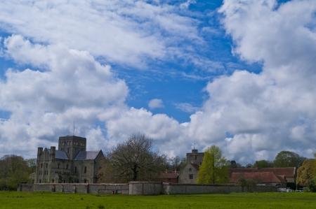 winchester: Ospedale di S. Croce e della povert� Almshouse Noble. Medievale alloggi di beneficenza a Winchester, Hampshire, Inghilterra