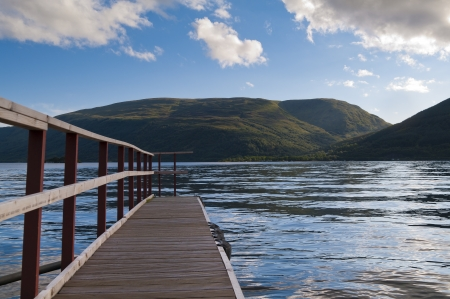 loch lomond: View over the lake Loch Lomond from a jetty Stock Photo