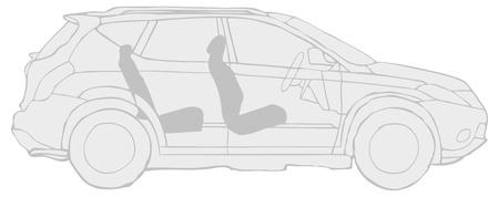 grey vector car Illustration