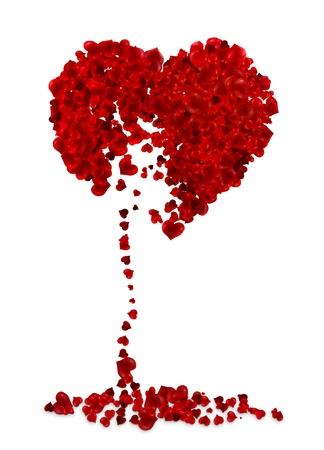 corazon roto: Ilustración del corazón roto