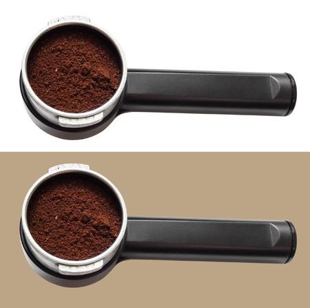 Espresso machine handle Stock Photo