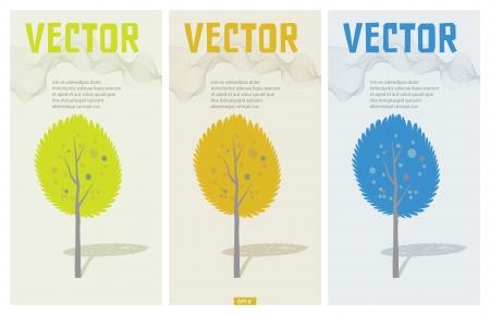 paysage dessin anim�: Autumn tree Vector cartoon paysage