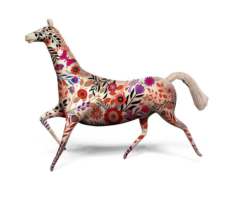 toy horse decorated with ornament