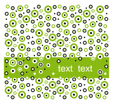Green dot pattern with place for your text