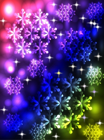 흰 서리: Colored snowflakes