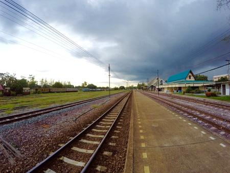 estacion tren: La estaci?n de tren Foto de archivo