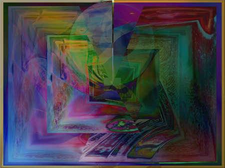 enter, digital manipulation of original photo