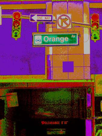 trafic: sign selection, digital enhancement of original photo