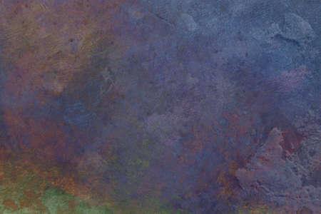 blauw geschilderd en mulit-gekleurde geweven achtergrond