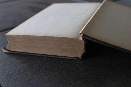 골동품 도서의 빈 페이지를 열어 라.