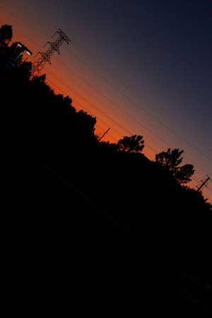 Florida suburb sunset