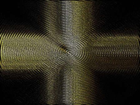 metalic: gold and siver metalic cross art on black background Stock Photo