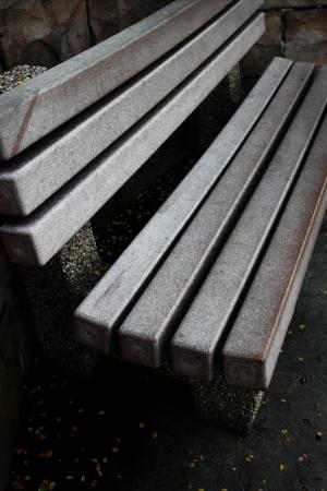 park bench in monotone