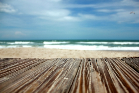 boardwalk to beach photo
