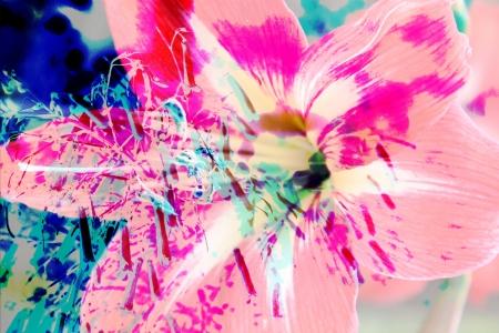 tropical floral digital art background