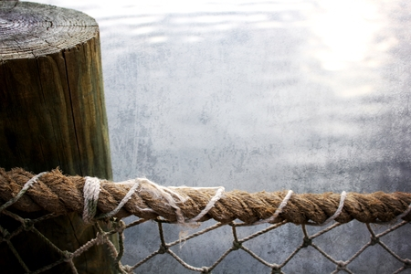 rope fence at dock