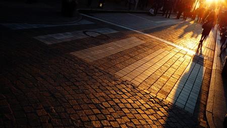 A street shot in Yokohama, Japan at a sunset time Stock Photo - 7262864
