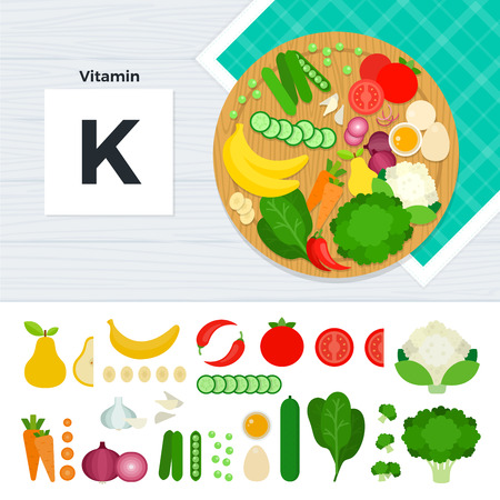 Products with vitamin K